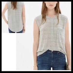 Madewell Hi Low Tipoff Placket Blouse